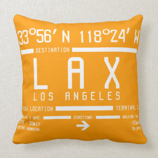 Los Angeles Airport Code Throw Pillows