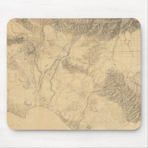 Los Angeles and San Bernardino Topography Mousepads