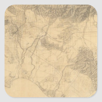 Los Angeles and San Bernardino Topography Square Sticker