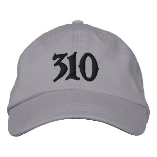 Los Angeles Area Code 310 or use ur own area code Embroidered Cap