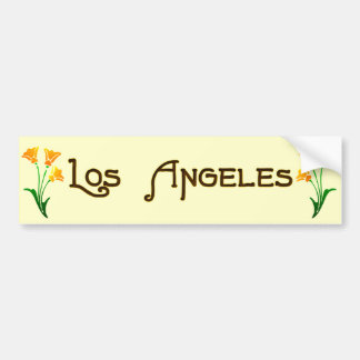 Los Angeles Art Deco Poppy Bumper Sticker