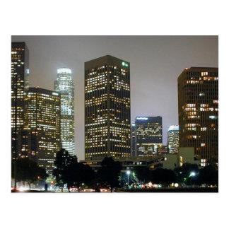 Los Angeles At Night Postcard