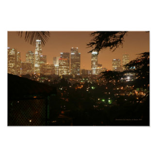 Los Angeles at Night Poster