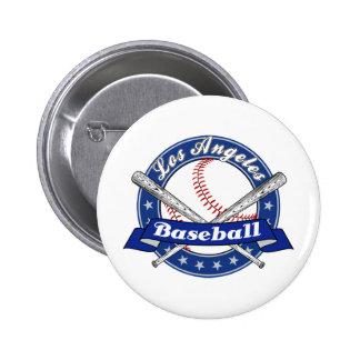 Los Angeles Baseball Button