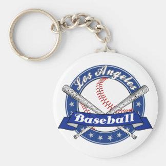 Los Angeles Baseball Basic Round Button Key Ring