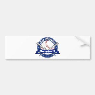 Los Angeles Baseball Bumper Sticker