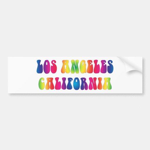Los Angeles CA 60s Tie-Dye Bumper Sticker