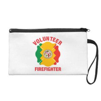 Los Angeles, CA Flag Volunteer Firefighter Cross Wristlet Clutches