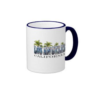 Los Angeles CA Ringer Coffee Mug