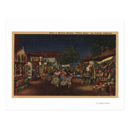 Los Angeles, CA - Olvera Street Postcard