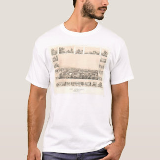 Los Angeles, CA. Panoramic Map 1857 (0903A) T-Shirt