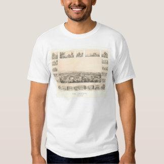 Los Angeles, CA. Panoramic Map 1857 (0903A) Tshirt
