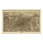 Los Angeles, CA Panoramic Map - 1909 Posters