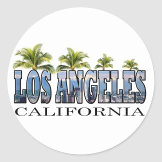 Los Angeles CA Round Sticker