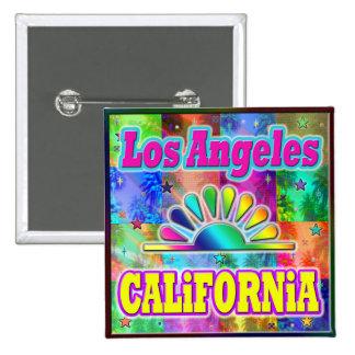 Los Angeles CA Sun & Palms Button