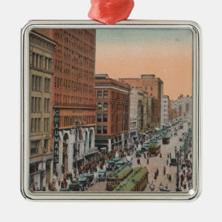 Los Angeles, CABroadway from 4th Street View Christmas Ornament
