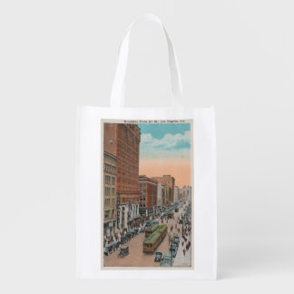 Los Angeles, CABroadway from 4th Street View Reusable Grocery Bag