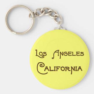 Los Angeles California Art Deco Keychain
