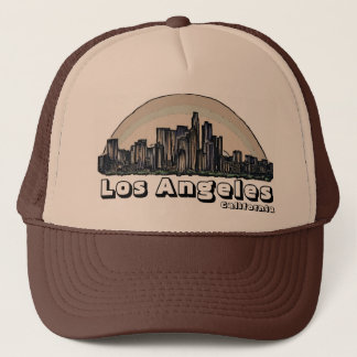 Los Angeles California artistic skyline hat