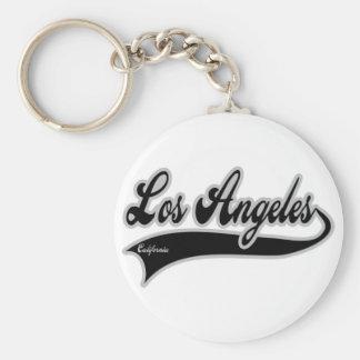 Los angeles California Basic Round Button Key Ring