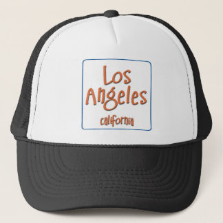 Los Angeles California BlueBox Trucker Hat