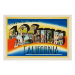 Los Angeles California CA Vintage Travel Souvenir Poster