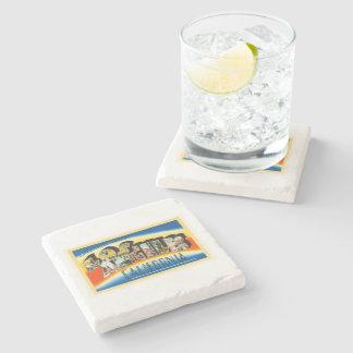 Los Angeles California CA Vintage Travel Souvenir Stone Beverage Coaster