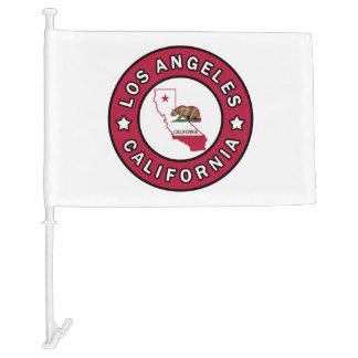 Los Angeles California Car Flag