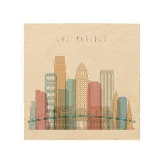 Los Angeles, California | City Skyline Wood Print