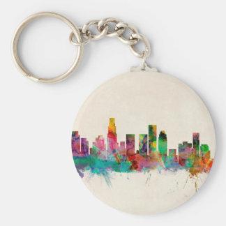 Los Angeles California Cityscape Skyline Keychains