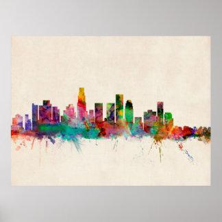 Los Angeles California Cityscape Skyline Poster