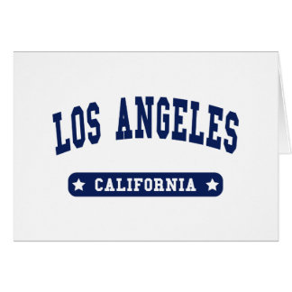 Los Angeles California College Style tee shirts Greeting Card