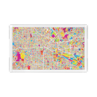 Los Angeles, California | Colorful Map Acrylic Tray
