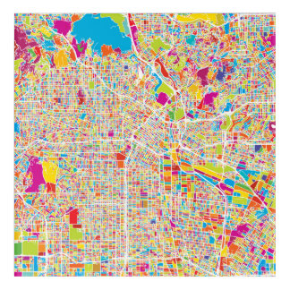 Los Angeles, California | Colorful Map Acrylic Wall Art