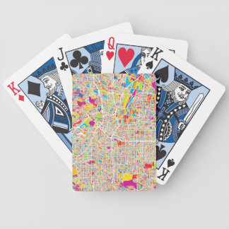 Los Angeles, California   Colorful Map Bicycle Playing Cards