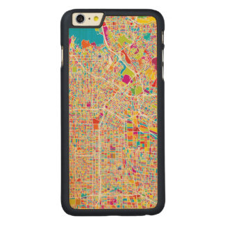 Los Angeles, California | Colorful Map Carved Maple iPhone 6 Plus Case