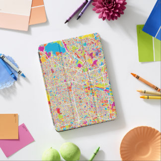 Los Angeles, California | Colorful Map iPad Air Cover