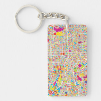 Los Angeles, California | Colorful Map Key Ring