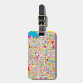 Los Angeles, California | Colorful Map Luggage Tag