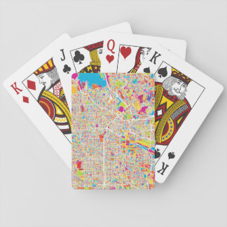 Los Angeles, California   Colorful Map Playing Cards