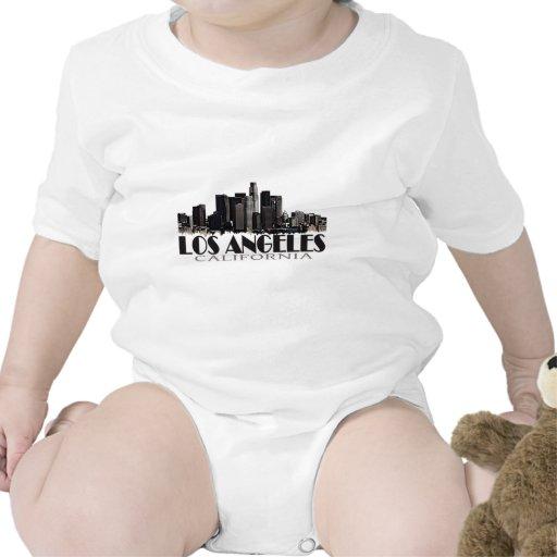 Los Angeles California dark skyline Tee Shirts