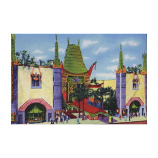 Los Angeles California Graumans Chinese Theater Canvas Prints