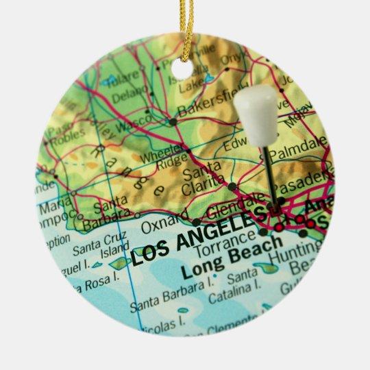 Los Angeles, California Map Christmas Ornament   Zazzle.co.uk