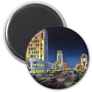 Los Angeles California Miracle Mile Wilshire Boule 6 Cm Round Magnet