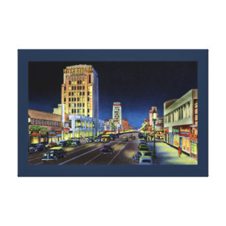 Los Angeles California Miracle Mile Wilshire Boule Gallery Wrapped Canvas
