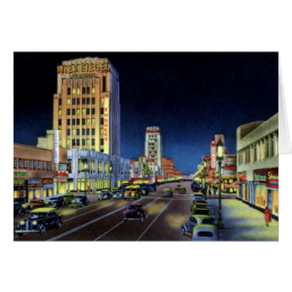 Los Angeles California Miracle Mile Wilshire Boule Greeting Card