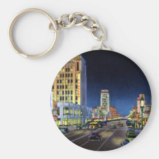 Los Angeles California Miracle Mile Wilshire Boule Basic Round Button Key Ring