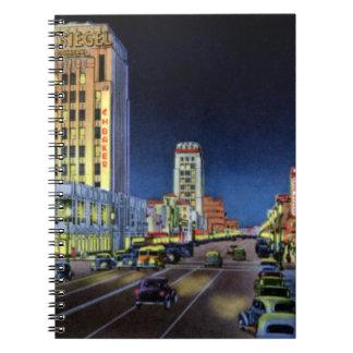 Los Angeles California Miracle Mile Wilshire Boule Notebook