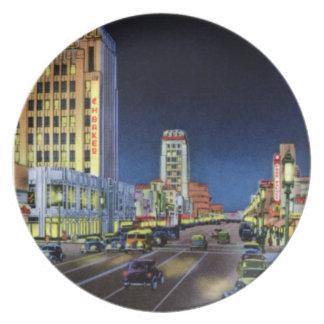Los Angeles California Miracle Mile Wilshire Boule Plate