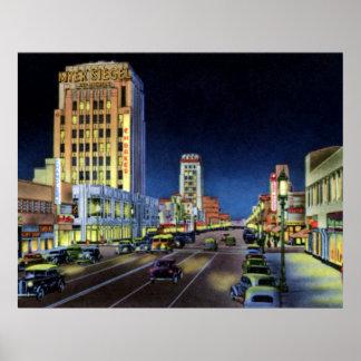 Los Angeles California Miracle Mile Wilshire Boule Print